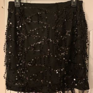 Prettylittlething Black Sequined Skirt NWT